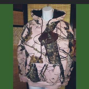 Mossy oak pink hoodie